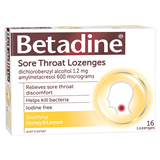 Betadine Lozenges Honey  Lemon 16