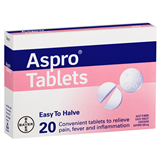 Aspro Clear 320mg 20 Tablets