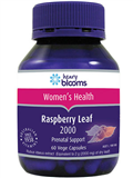 Blooms Raspberry Leaf 2000mg Vege 60 Capsules