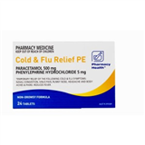 Pharmacy Health Cold  Flu PE 24 Tablets