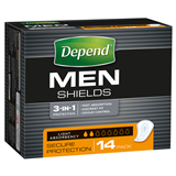 Depends Men Shields 14 pack