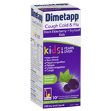 Dimetapp Cough Cold  Flu Black Elderberry  Ivy Leaf Kids 2 Years  Over 200ml
